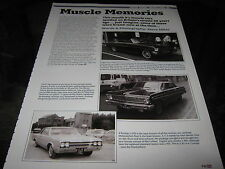 Chevy 11 Nova SS Falcon Futura Sprint Oldsmobile Ford Fairline Malibu Pontiac