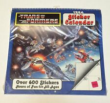 1986 Sticker Calendar Transformers G1 Over 600 Stickers Nos