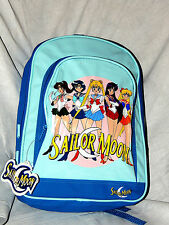 """NWT *SAILOR MOON* BLUE   VINYL FRONT AND CANVAS BACK- BACKPACK  14"""" X 11"""" X 5"""""""