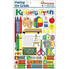 REMINISCE MAKING THE GRADE KINDERGARTEN SCHOOL DIMENSIONAL 3D SCRAPBOOK STICKERS