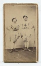 CDV TWO ACTRESSES IN COSTUME WITH BOW AND ARROW. UNIQUE.