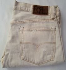 RRL RALPH LAUREN Classic Straight Japan Woven Selvedge Denim Button Fly Jean 34