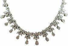 DIAMOND PEAR MARQUISE ROUND NECKLACE