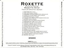 Rare Advance CD-r Promo Collection of ROXETTE HITS Their 20 Greatest Hits Reveal