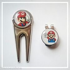 anneys - 2 - mario golf ball markers + divot tool + hat clip