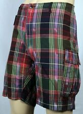 Ralph Lauren Red Green Burgundy Plaid Shorts NWT 42 $98