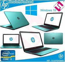 PORTATIL HP 15 AY045NS 4GB DDR3 HDD 500GB W10 BLUETOOTH VERDE AZUL GRABADORA DVD