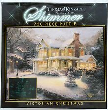 CEACO® 750pc THOMAS KINKADE • VICTORIAN CHRISTMAS • SHIMMER • PUZZLE Jig Saw