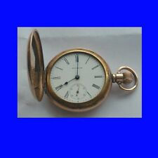 Stunning 10k Gold Waltham 7 Jewel  Hunter Gents  Pocket Watch 1919
