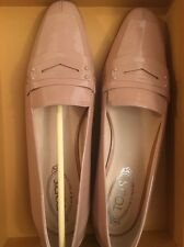 Tod's 10.5 40.5 Pink Patent Loafer Pointy Toe Ballet Flats Shoes Driver Moc