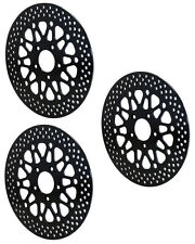 WILWOOD 08-UP HARLEY DAVIDSON FRONT (2) & REAR (1) MOTORCYCLE BRAKE ROTORS,BLACK