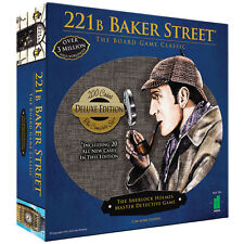 NEW Deluxe 221B Baker Street Board Game - 200 Intriguing Adventures 2-6 Players