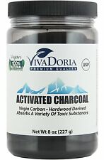 Vivadoria Virgin Activated Charcoal Powder Food Grade  (8 oz)