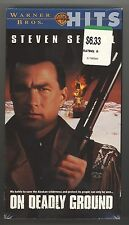 On Deadly Ground / Steven Seagal / VHS / Free Shipping / New / Sealed