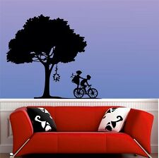 Mesleep Playing Kids Design Black PVC Wall Sticker - Wall Decal