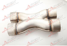 """UNIVERSAL ALUMINIZED STEEL EXHAUST CROSSOVER X PIPE 2.5"""" INLET 2.5""""OUTLET"""