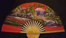 Traditional Large Chinese Fan/Wall Hanging. Very Good Condition