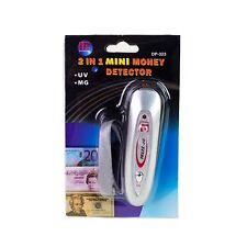 2 in 1 Mini Counterfeit Money Detector Tester Dollar Bill Fake Currency Checker