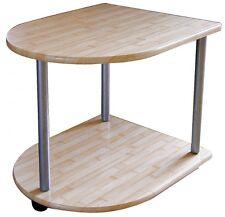 Table d'appoint mit Roulettes en bois roulante basse Depose de chevet