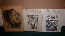 Virgil Finlay Art Portfolio LOT Unpublished Works + Lost Drawings & Weird Tales