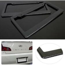 2x Universal Black #G Carbon Fiber Printed Style Front/ Rear License Plate Frame