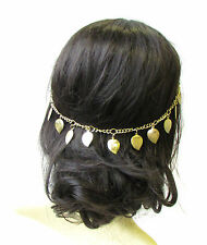 Gold Leaf Headband Hair Vine Headpiece Grecian Boho Festival Chain Bridal 1417