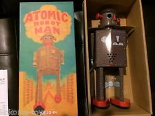 2014 St. John Toys STJ019 ATOMIC BROWN ROBOT Man Windup Tin Toy Space MIB