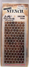 Honey Comb Pattern Layering Stencil - Stampers Anonymous Tim Holtz Collection