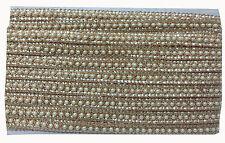 2.8 mtr Pearl Copper lace border trim, copper embroidery bridal 9 Mtr, 2cm wide