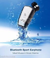 HOCO E4 Waterproof Rechargable Bluetooth V4.0 Retractable Sports Clip-on Headset