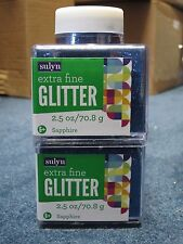 """Sulyn Extra Fine Glitter """"Sapphire"""" 2.5 oz LOT OF TWO (2)"""