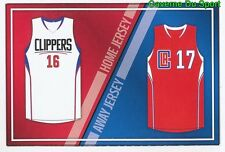 328 HOME / AWAY JERSEYS  LOS ANGELES CLIPPERS STICKER NBA BASKETBALL 2017 PANINI