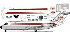 TWA Starstream delivery Douglas DC-9-15  airliner decals for Airfix 1/144 kits