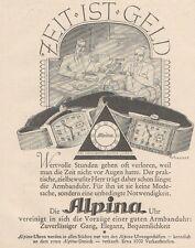 Y6525 Orologi ALPINA - Illustrazione -  Pubblicità d'epoca - 1927 Old advert