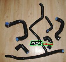 BLACK  silicone radiator hose for BMW E30 M20 320i / 325i 1989 1990 1991 1992