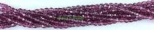 50 Amethyst Czech Firepolished Faceted Round Glass Beads 4mm