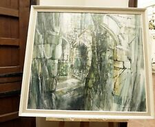 LARGE 1960,S  OIL ON BOARD WARDOUR CASTLE ARTIST TENNYER  FREE SHIPPING