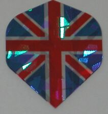 3 Sets UNION JACK ENGLAND Holographic Standard Dart Flights - FREE SHIPPING 6446