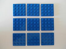 LEGO CITY 9 Building blocks 3031 in blue 4x4 Nubs as from 7744 and 75072 NEW