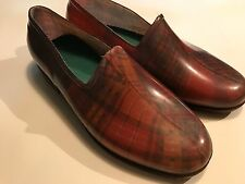 Vintage Sarriazienne French Jelly Rain/Garden  Shoe/Boot Plaid Size 5.  RARE