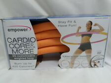 Empower Cardio Core Weighted Adjustable Hula Hoop w/DVD 7479-1