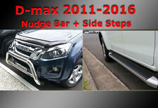 ISUZU D-max Side Steps + Nudge Bar Dual Cab 2012-2017