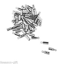 250pcs Stainless Steel Necklace Crimp Cord Ends Jewelry Findings