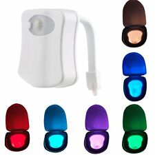 Bathroom Home LED Toilet Seat Light Motion Activated Night Sensor Lamp 8 Colors