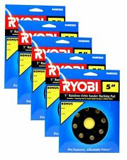 "5 Pack RYOBI 5"" Random Orbit Sander Backing Sanding Pad 4600505 for RS240, RS241"