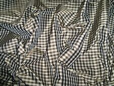 TAPESTRIA FRENCH COUNTRY GINGHAM CHECK SILK PILLOW QUILTERS FABRIC REMNANT BROWN