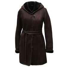 Abrigo de piel cordero - MARGARETTA Mujer invierno con capucha