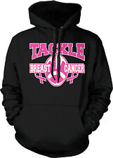 Tackle Breast Cancer Football Pink Ribbon Survivor Awareness Hoodie Pullover