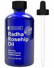 Radha Beauty Rosehip Oil - 100% Pure Cold Pressed Certified Organic 4 fl. oz. -