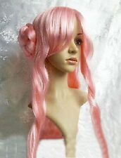 Code Geass Dark Long Curly Cosplay Wig Buns Euphemia